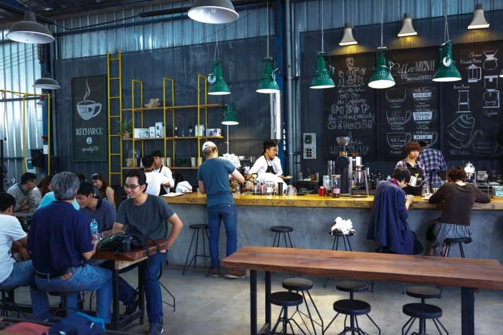 Coffee shop setting