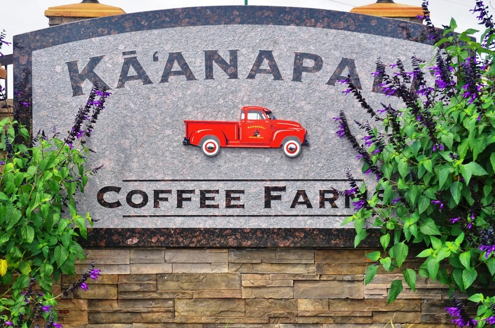 Hawaii Volcanic Coffee Farm Sign