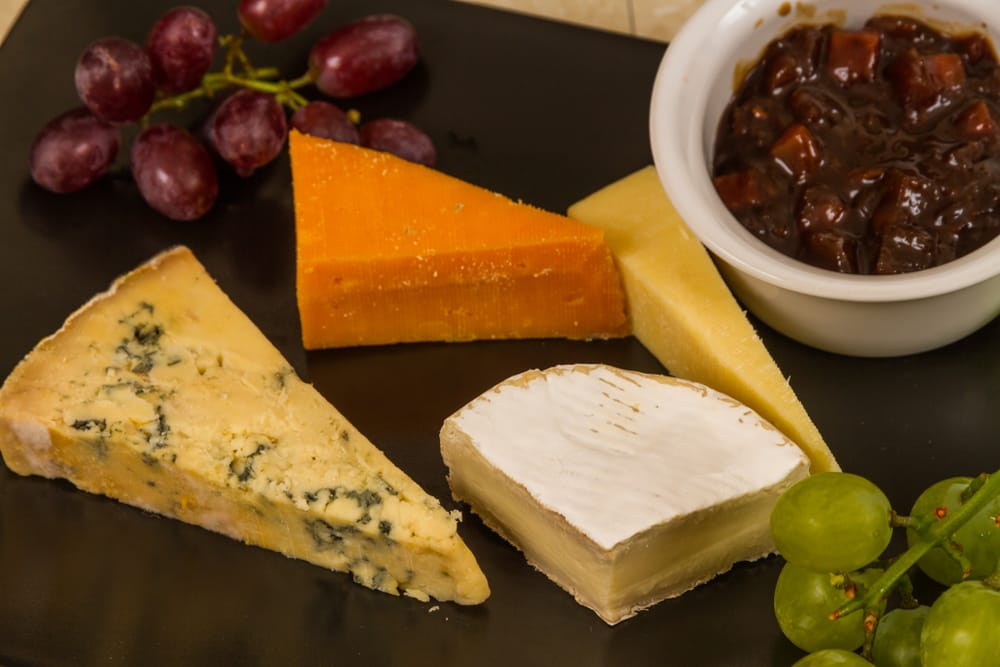 cheese and chutney selection for scones