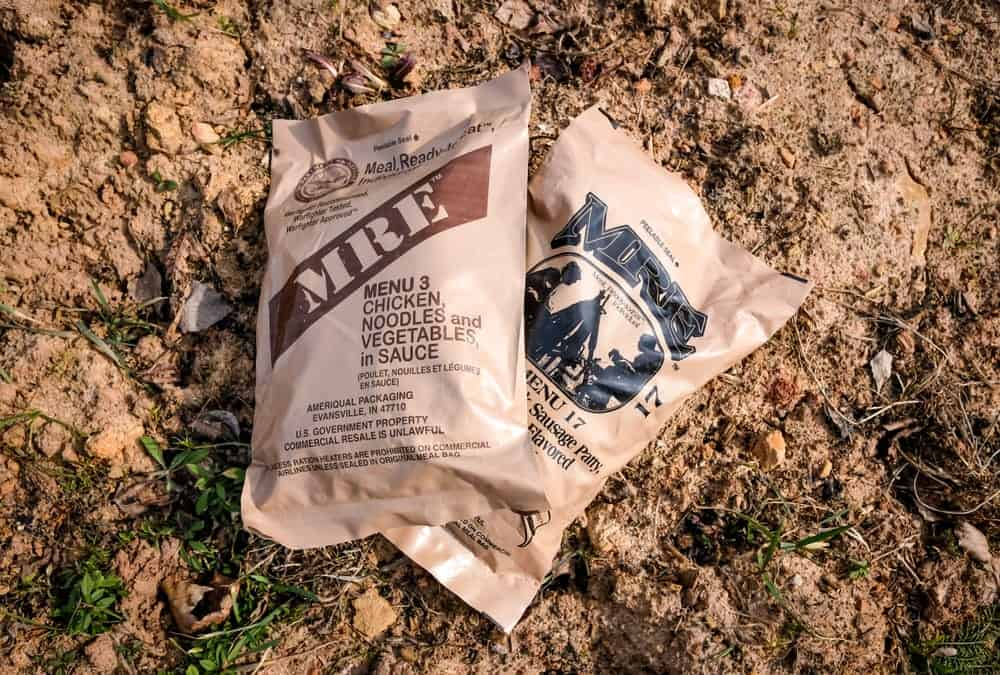 MRE meal for camping food