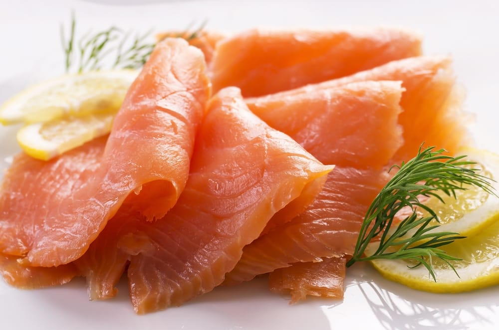 smoked salmon slices for scone toppings