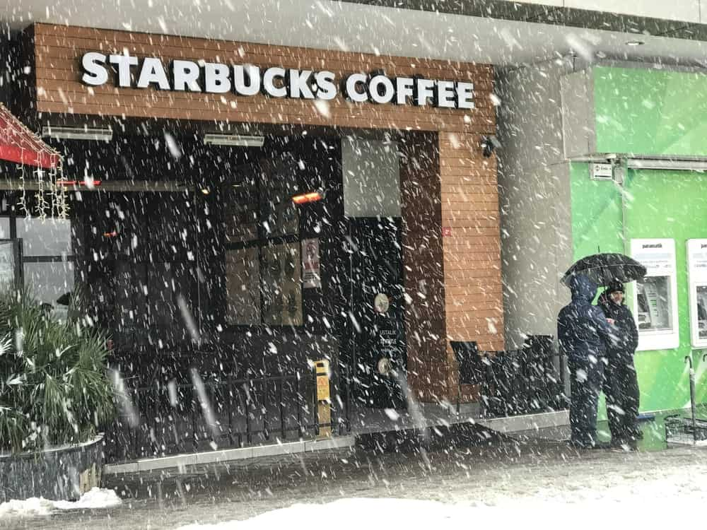 starbucks in winter