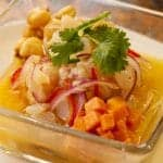 sweet potato and corn ceviche
