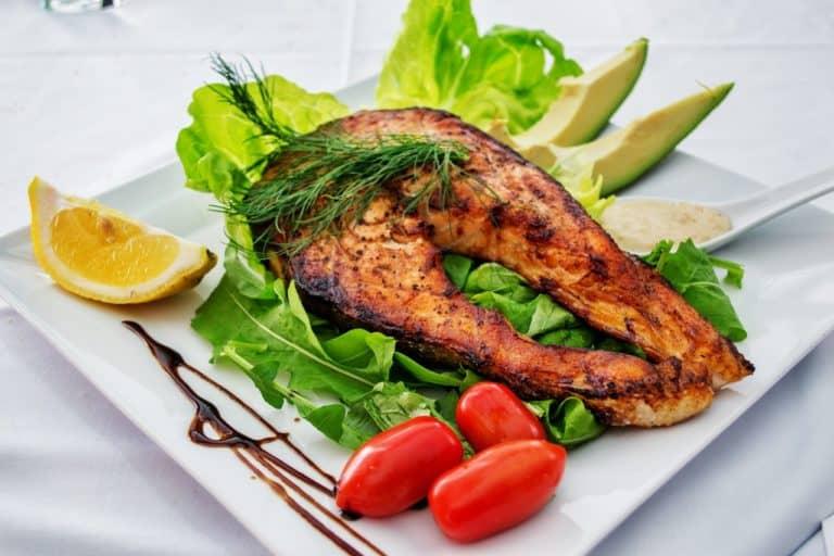 Fish salad meal