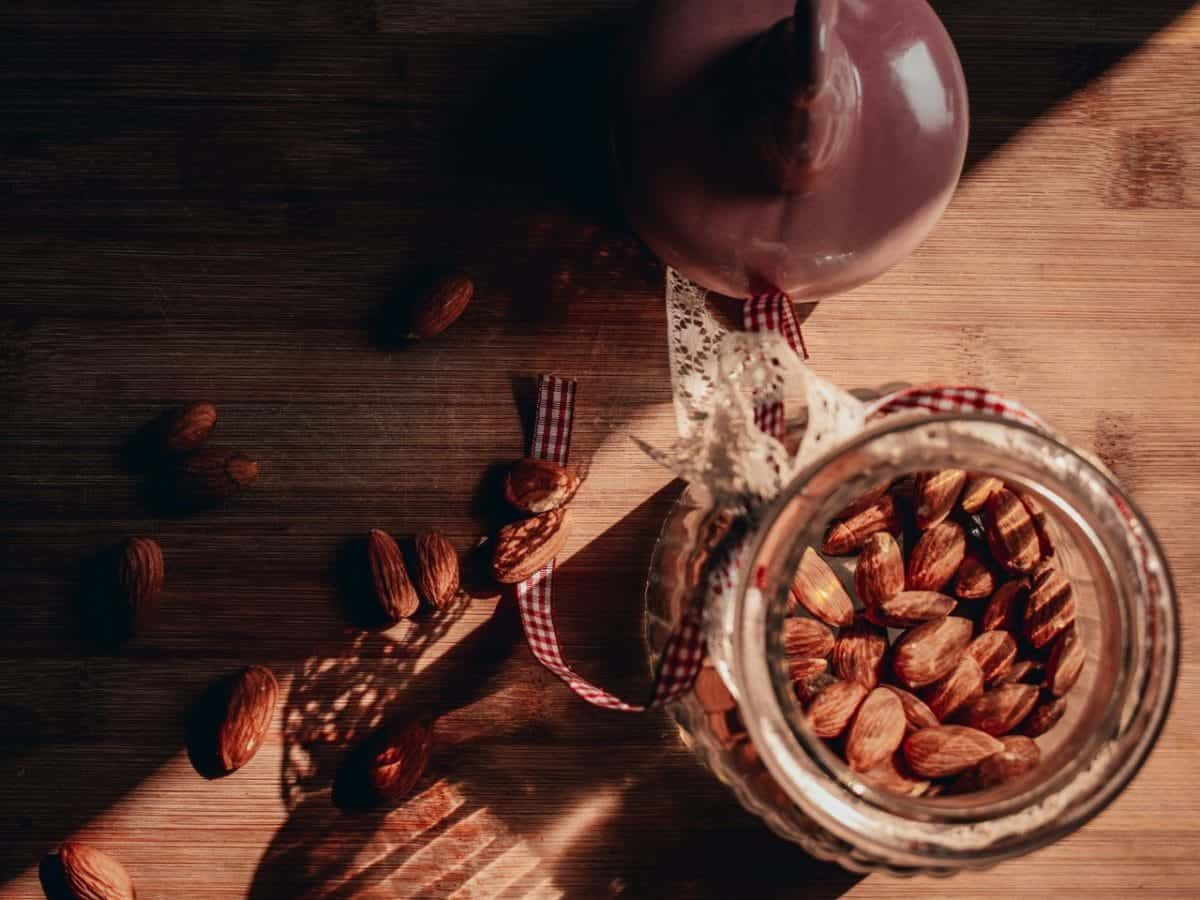 almonds in a glass/Almond Benefits for Skin