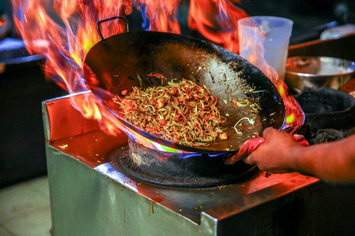 frying on a fire