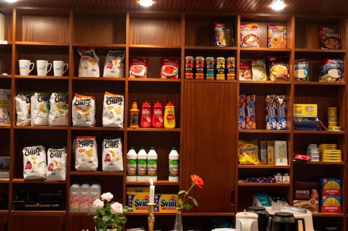 stock cupboard of bulk items
