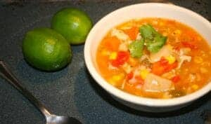 Spicy Green Chile Chicken Soup