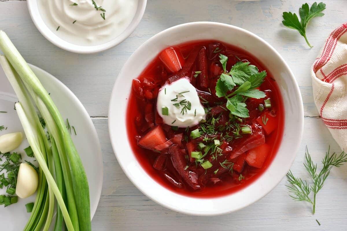Simple Borscht Recipe Vegetarian