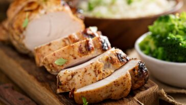 Side Down Cooked Turkey Breast