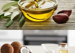 olive oil and coconut oil