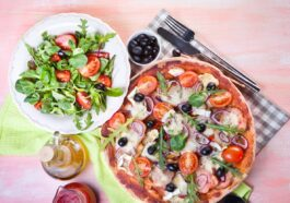 Salad with Pizza