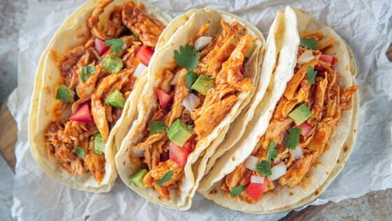 Shredded Chicken Tacos