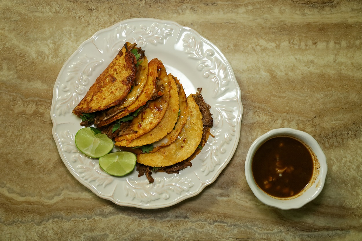 Birria Tacos and Consommé