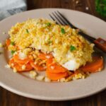 Baked cod with ritz