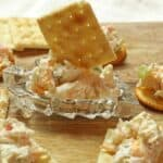 Cold crab dip on serving dish