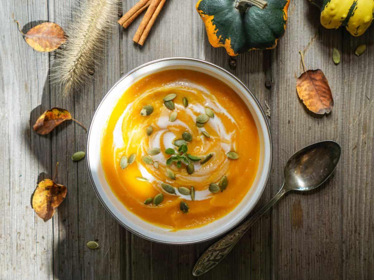 Creamy kabocha soup