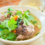 Hawaiin oxtail soup with cilantro
