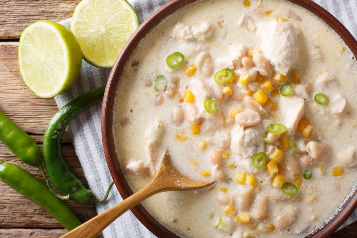 Hot Homemade White Chicken Chilli