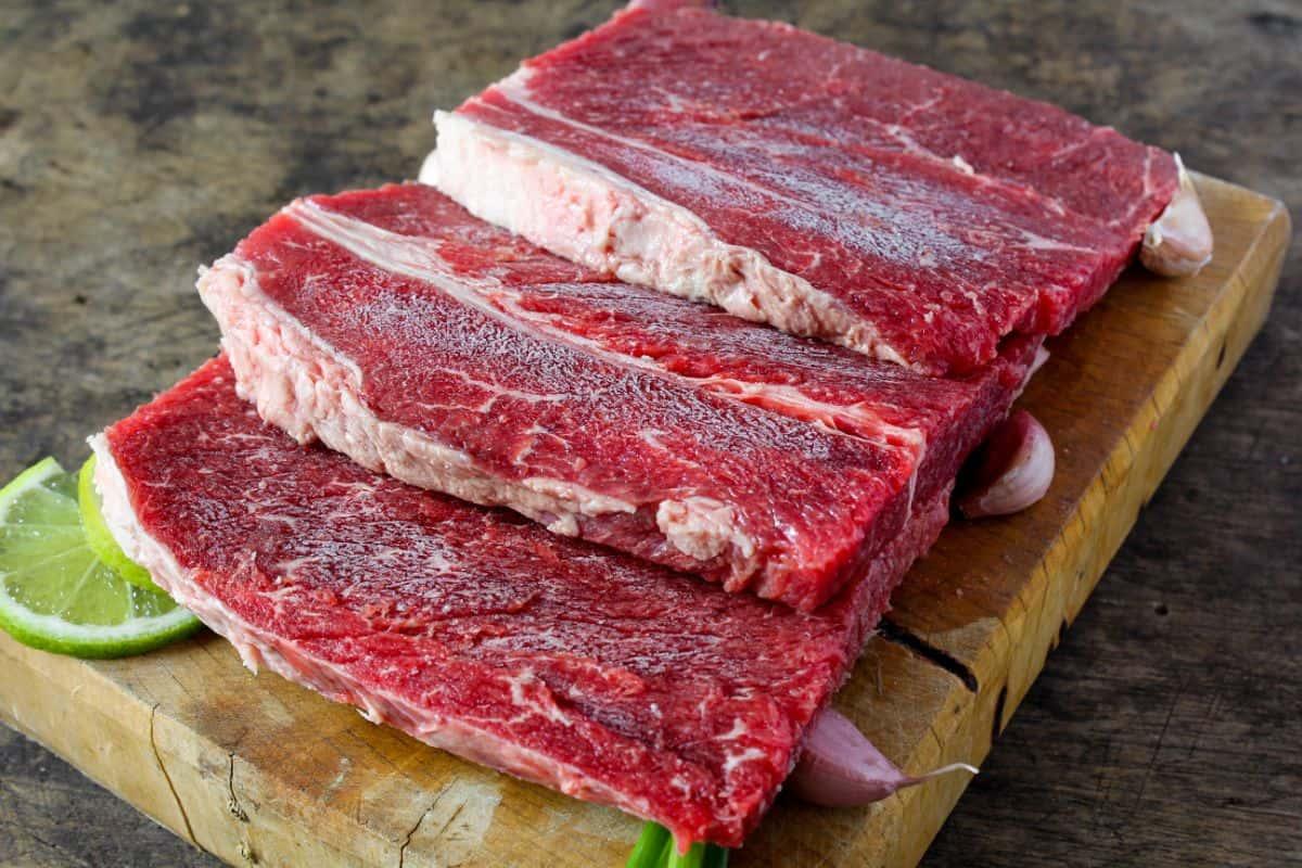 Raw Top Round Steak
