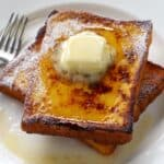 eggnog french toast with butter