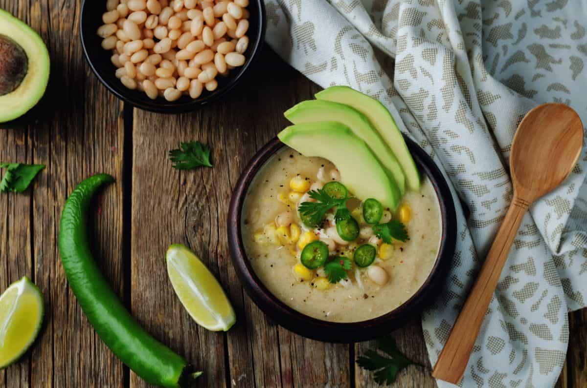 green chili chicken soup